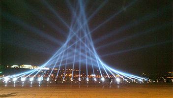 GBR Lighting Products in Wanzhou Bridge Creek Music Fountain