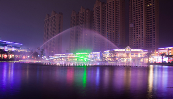 GBR lighting products shine Dongguan Houjie Wanda Plaza